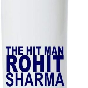 Crazy Sutra Classic Printed Cricket Special Water Bottle/Sipper White - 600Ml (Sipper-TheHitManRohitSharma_T)