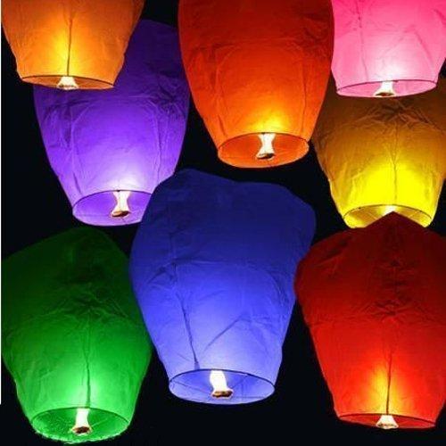 Hot Air Balloon Sky Lantern Paper LAMP Light Wish Candle Light Parachute HOT Balloon Pack of 4