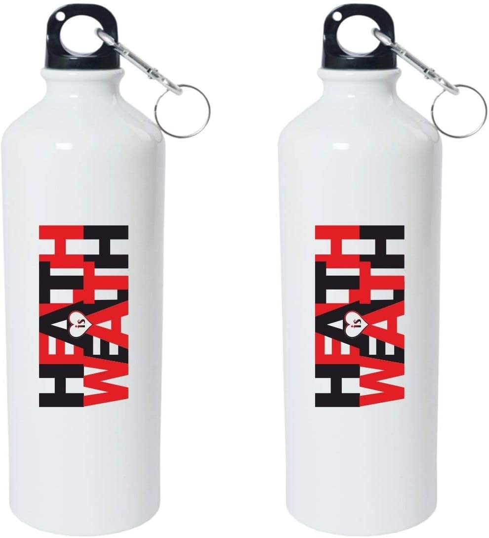 Crazy Sutra Classic Printed Quote Water Bottle/Sipper - 600Ml (HealthlsWealth_W)
