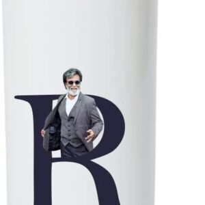 Crazy Sutra Classic Printed Water Bottle/Sipper - 600Ml (SchoolBottles-Rajinikanth_W)