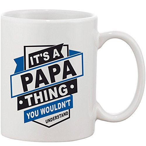 Crazy Sutra Classic Special Father's Day Printed Ceramic Funky One Liner Coffee Mug/Milk Mug, Black (MugMagic-It'sAPapaThing)