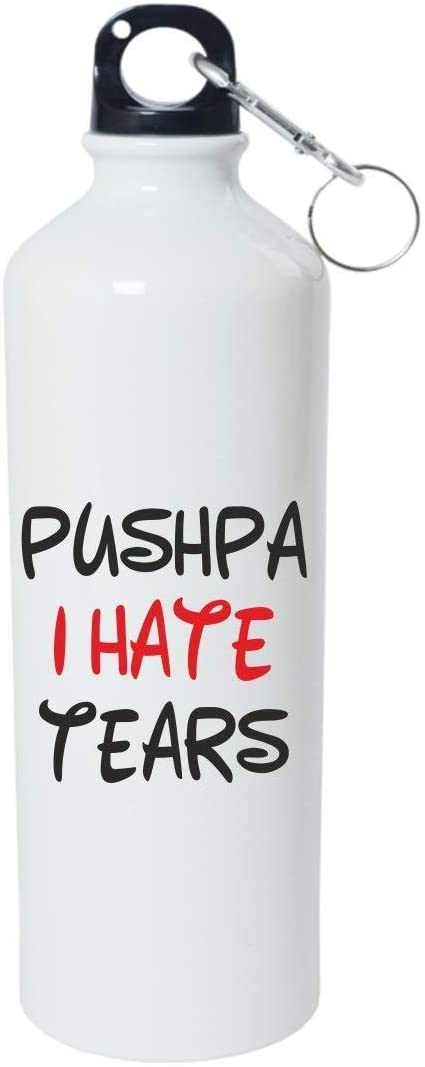 Crazy Sutra Classic Printed Water Bottle/Sipper - 600Ml (SchoolBottles-PushpaIHateTears_W)