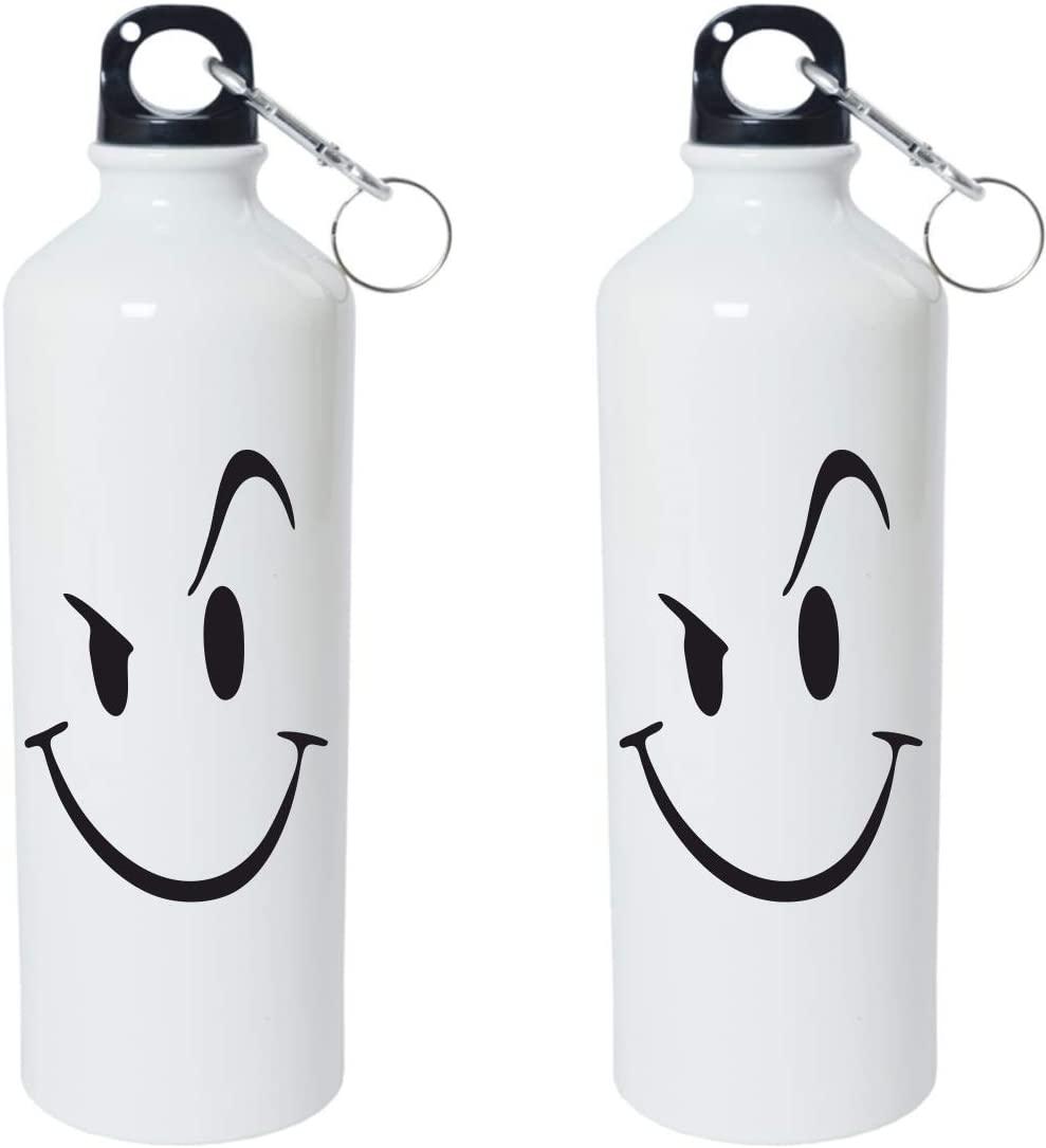 Crazy Sutra Classic Printed Water Bottle/Sipper White - 600Ml (Sipper-FunkyEyes1)