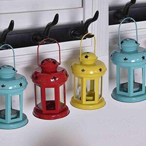 Crazy sutra Lanterns Small Hanging Metal Lantern Tea Light Holder Random Colors as per Availability Combo Set 4pc