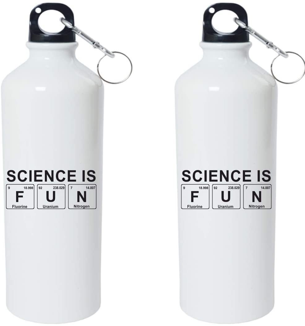 Crazy Sutra Classic Printed Periodic Table Special Water Bottle/Sipper White - 600Ml (Sipper-ScienceIsFun 1)