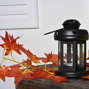 Crazy sutra Lanterns Small Hanging Lantern Tea Light Holder Colors Black