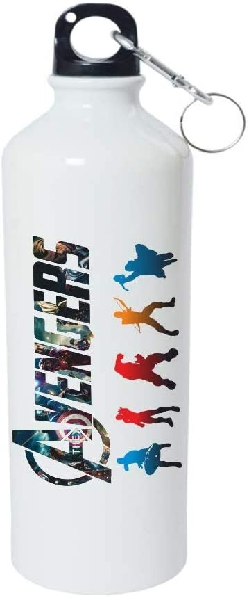 Crazy Sutra Classic Printed Quote Water Bottle/Sipper White - 600Ml (Avenger_W)