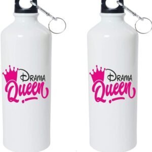 Crazy Sutra Classic Printed Quote Water Bottle/Sipper - 600Ml (DramaQueen_W)
