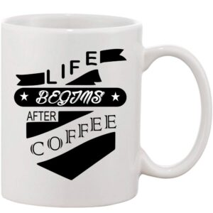 Crazy Sutra Classic Life After Coffee Printed Ceramic Coffee/Milk Mug | Funky  Coffee/Milk Mug (White, 11 oz)