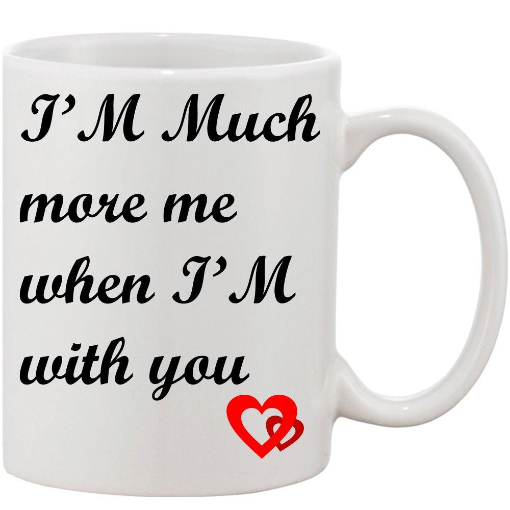 Crazy Sutra Classic I'M Much Printed Ceramic Coffee/Milk Mug   Funky  Coffee/Milk Mug (White, 11 oz)