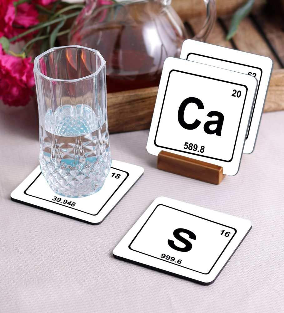 Crazy Sutra Premium HD Printed Standard Size Coasters for Tea Coffee Cups, Mugs, Beer Mugs, Cans Bar Glass, Home, Kitchen, Office, Desk Set of 4 Coasters (Cos-Sarcasm)