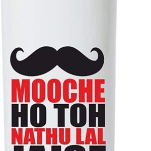 Crazy Sutra Classic Printed Water Bottle/Sipper - 600Ml (SchoolBottles-MoocheHoTohNathulal_W)