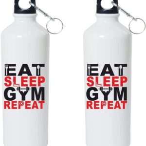 Crazy Sutra Classic Printed Quote Water Bottle/Sipper - 600Ml (EatSleepGymRe_W)