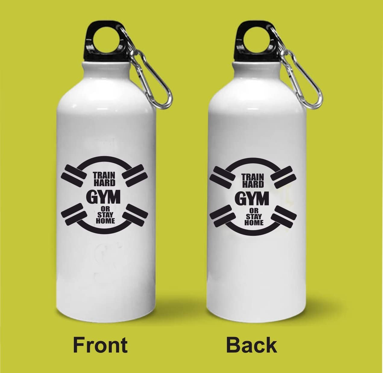 Crazy Sutra Classic Printed Train Hard Gym Or Stay Home Quote Water Bottle/Sipper - 600Ml