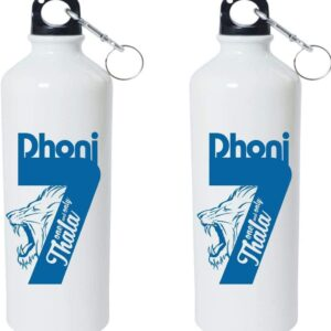 Crazy Sutra Classic Printed Cricket CricketCricket Special Water Bottle/Sipper White - 600Ml (Sipper-One&OnlyThala1)