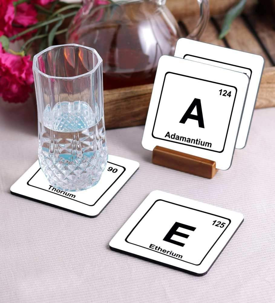 Crazy Sutra Premium HD Printed Standard Size Coasters for Tea Coffee Cups, Mugs, Beer Mugs, Cans Bar Glass, Home, Kitchen, Office, Desk Set of 4 Coasters (Cos-Ethan3)