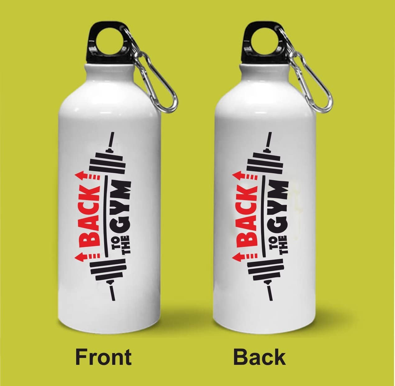 Crazy Sutra Classic Printed Back To The Gym Quote Water Bottle/Sipper - 600Ml