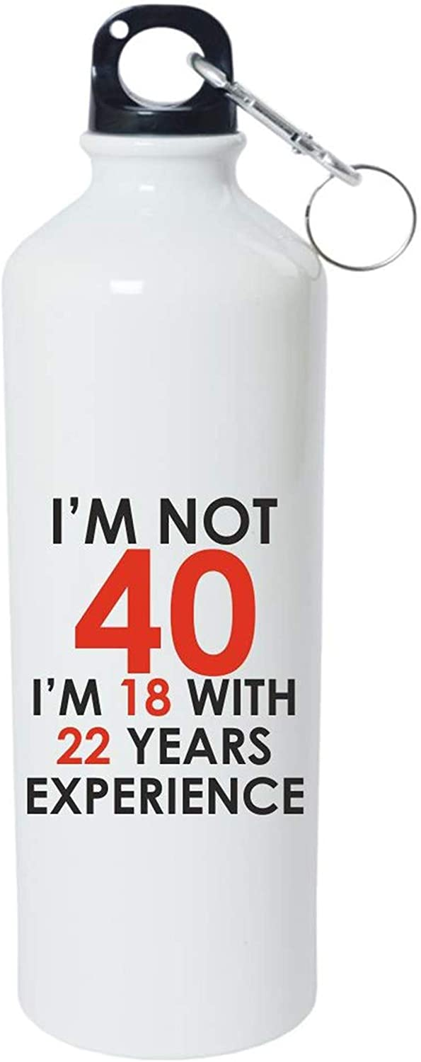 Crazy Sutra Classic Printed Water Bottle/Sipper - 600Ml (SchoolBottles-I'm Not40_W)