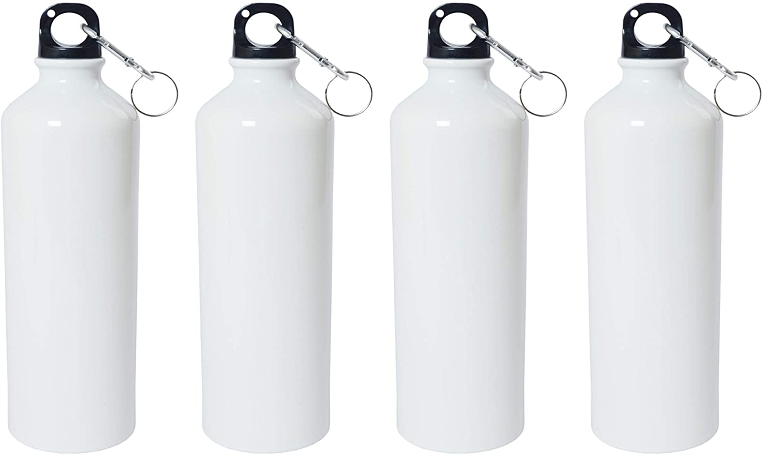 Crazy Sutra Classic Sipper Plain Water Bottle/Sipper White - 600Ml (SipperWhite4pcA)