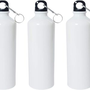 Crazy Sutra Classic Sipper Plain Water Bottle/Sipper White - 600Ml (SipperWhite3pcA)