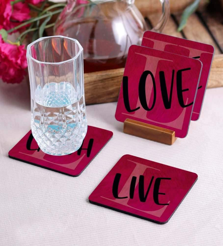 Crazy Sutra Premium HD Printed Standard Size Coasters for Tea Coffee Cups, Mugs, Beer Mugs, Cans Bar Glass, Home, Kitchen, Office, Desk Set of 4 Coasters (Cos-LoveLive1)