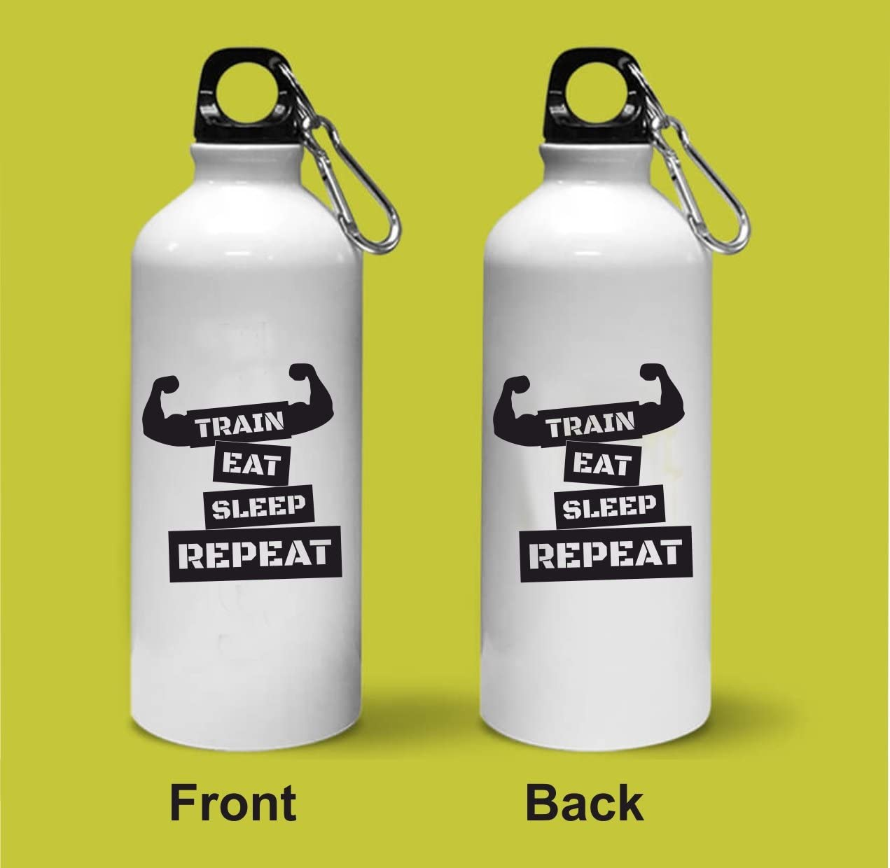 Crazy Sutra Classic Printed Train Eat Sleep Repeat Quote Water Bottle/Sipper - 600Ml