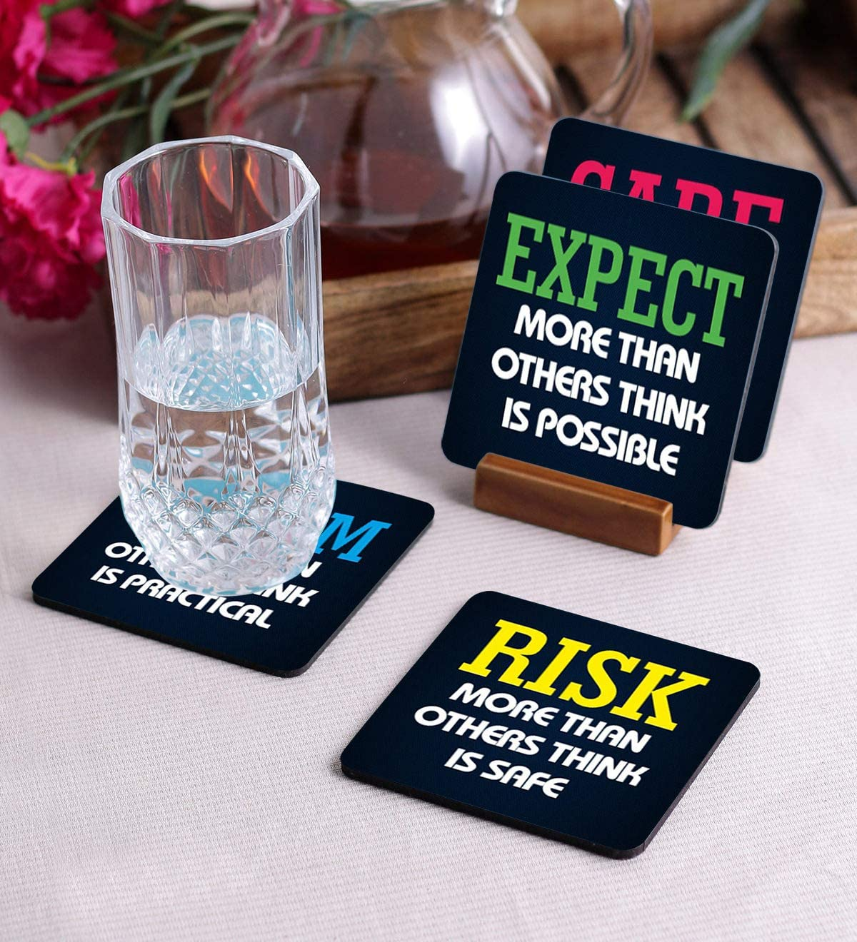 Crazy Sutra Premium HD Printed Standard Size Coasters Set of-4