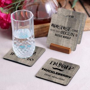 Crazy Sutra Premium HD Printed Standard Size Coasters for Tea Coffee Cups, Mugs, Beer Mugs, Cans Bar Glass, Home, Kitchen, Office, Desk Set of 4 Coasters (Cos-IAmYour4)