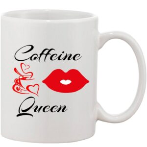 Crazy Sutra Classic Coffe Queen Printed Ceramic Coffee/Milk Mug | Funky  Coffee/Milk Mug (White, 11 oz)