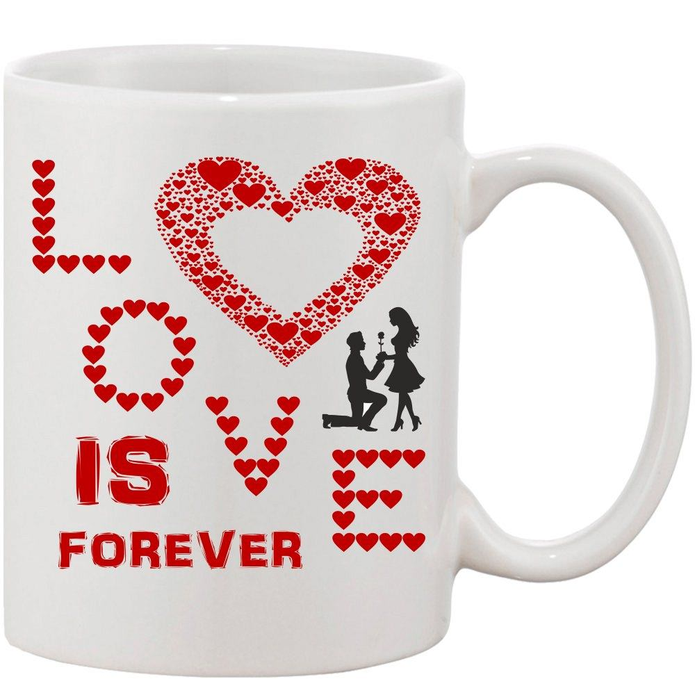 Crazy Sutra Classic Love HRT Printed Ceramic Coffee/Milk Mug | Funky  Coffee/Milk Mug (White, 11 oz)