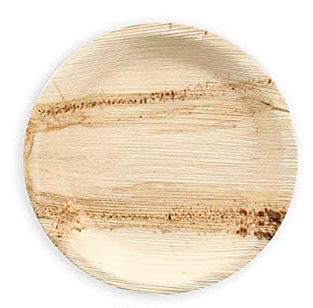 Crazy Sutra Eco-Friendly Disposable Round Areca Palm Leaf Plates - 10 Inch Diameter(Pack of 20pc)