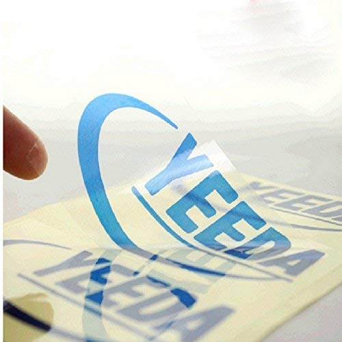 Crazy Sutra PVC Self Adhesive A4 Sticker Sheet Transparent Blank Clear for Laser Printing (10 Sheets)