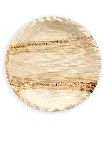 Crazy Sutra Eco-Friendly Disposable Round Areca Palm Leaf Plates - 6 Inch Diameter(Pack of 20pc)