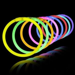 Crazy Sutra Glow in The Dark Assorted Colour Bands Bracelets -100 Pieces Set